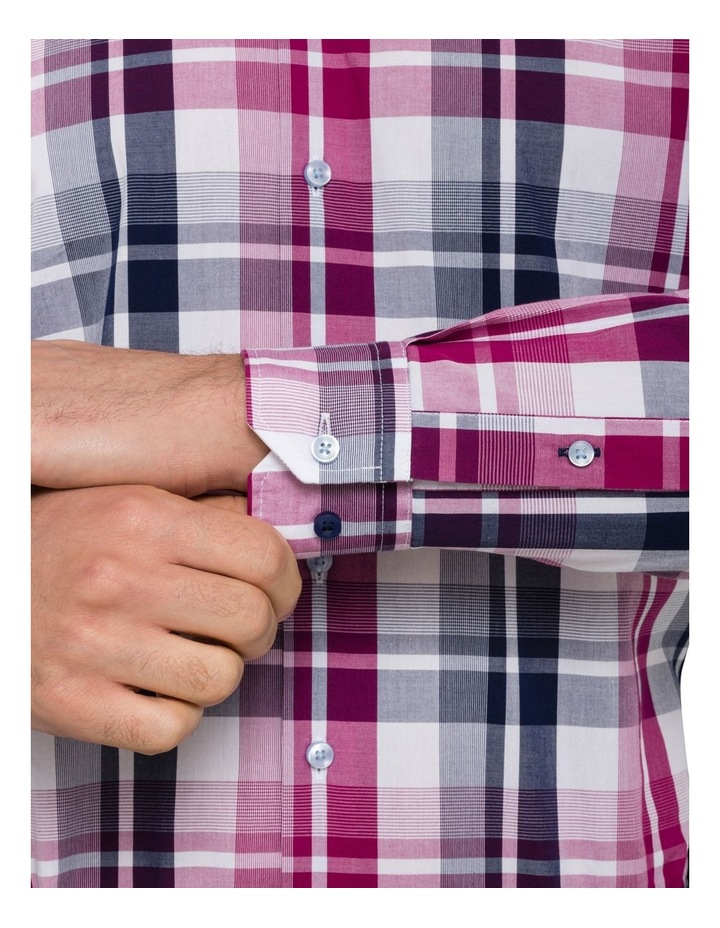 Euro Washed Cherise Check Business Shirt image 4