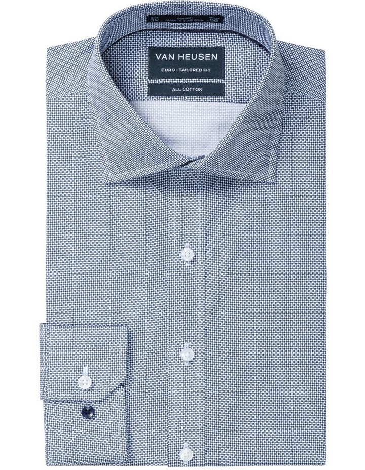 Van Heusen Euro Navy Geo Print Business Shirt image 1