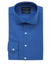 Van Heusen Euro - Euro Washed Cobalt Mini Check Business Shirt VLEM909Z_CMDT
