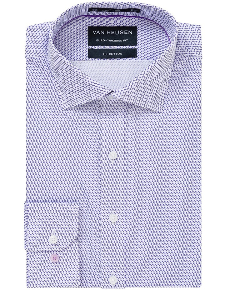 Mauve Geo Print Business Shirt image 1