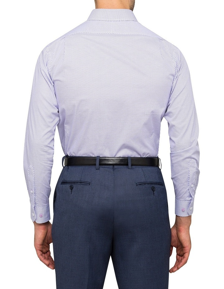 Mauve Geo Print Business Shirt image 3