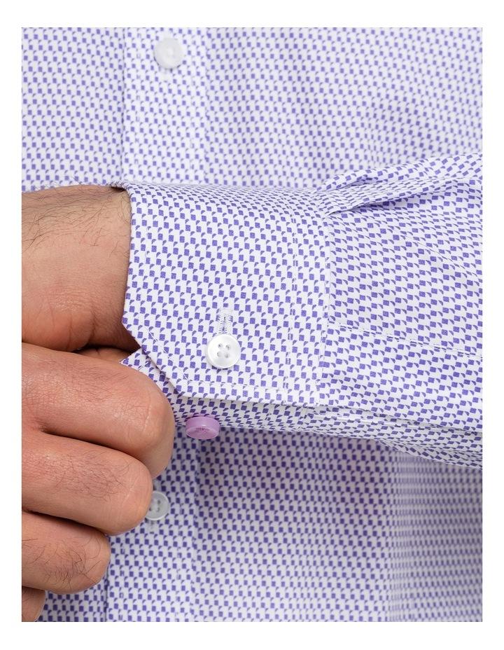 Mauve Geo Print Business Shirt image 4