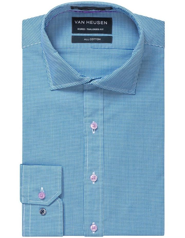 Washed Blue Minicheck Business Shirt image 1