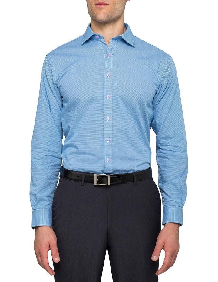 Washed Blue Minicheck Business Shirt image 2