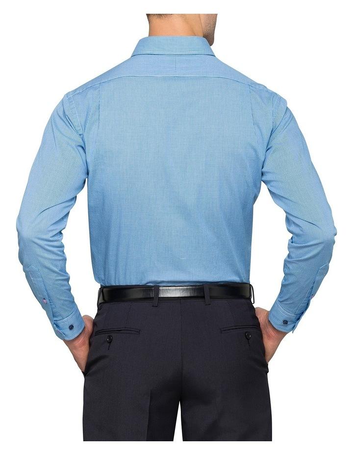 Washed Blue Minicheck Business Shirt image 3