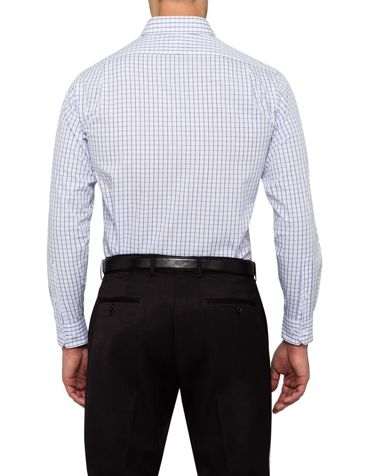 White Ground Blue Windowpane Check Business Shirt VLEMX35Z_CCSB image 2
