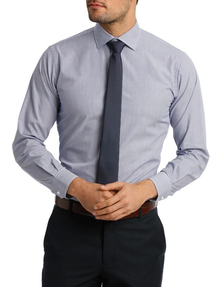 White & Blue Stripe Business Shirt VLEMX22Z_VCSB image 1