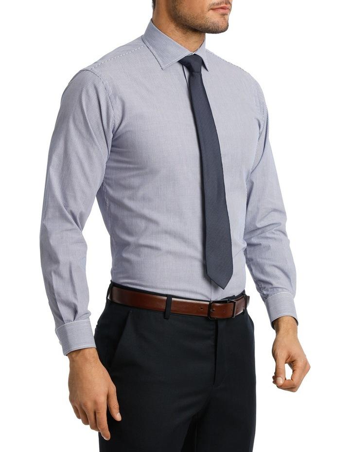White & Blue Stripe Business Shirt VLEMX22Z_VCSB image 2