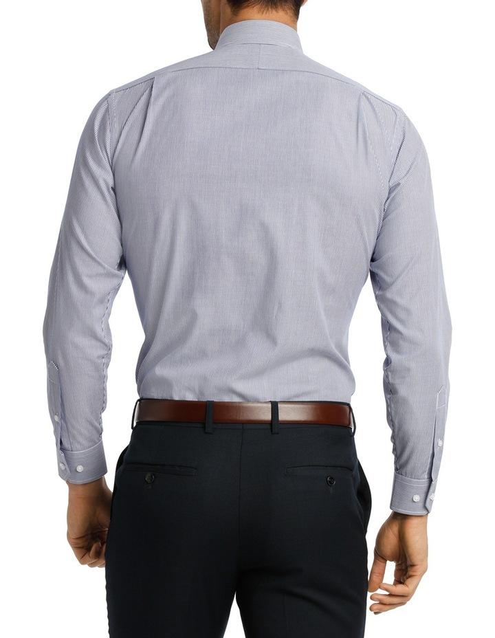 White & Blue Stripe Business Shirt VLEMX22Z_VCSB image 3