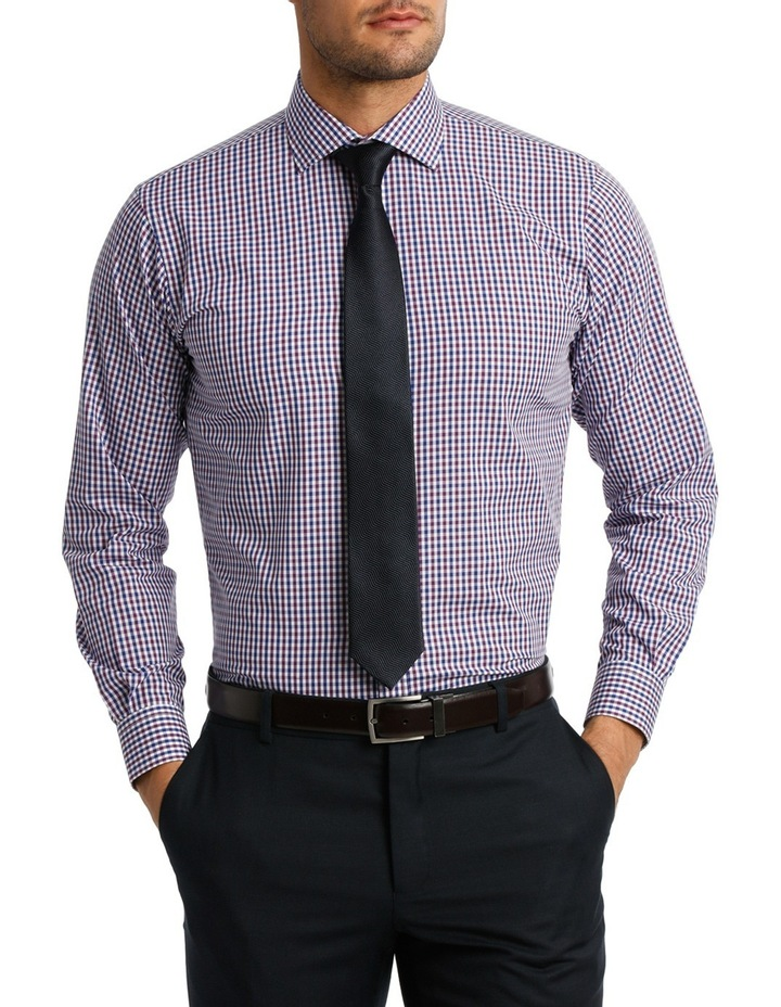 White  Navy & Purple Check Business Shirt VLEMX07Z_CNVB image 1