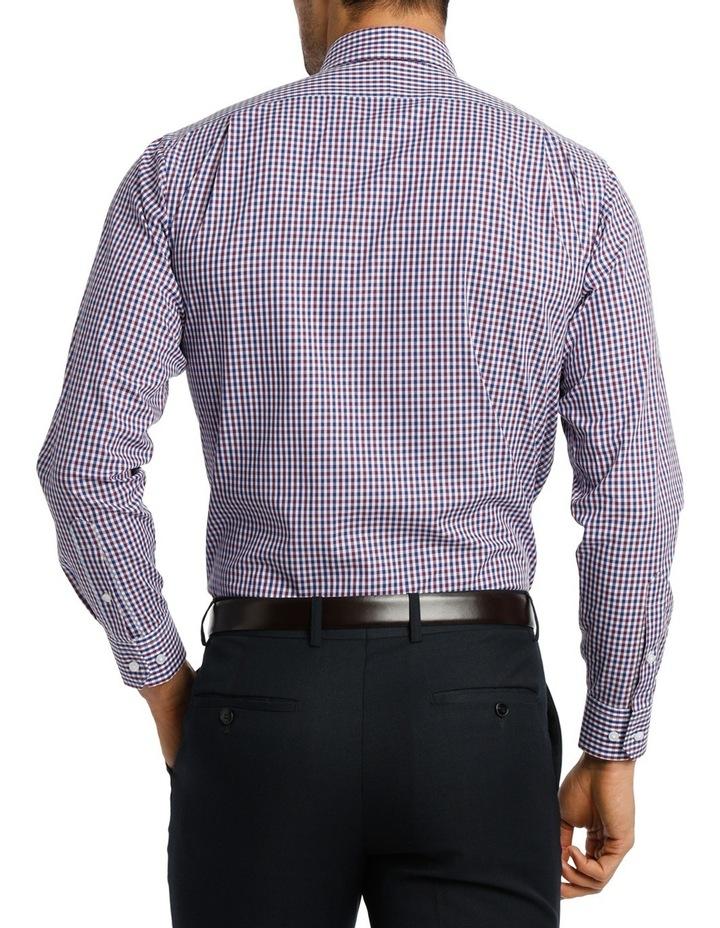White  Navy & Purple Check Business Shirt VLEMX07Z_CNVB image 3