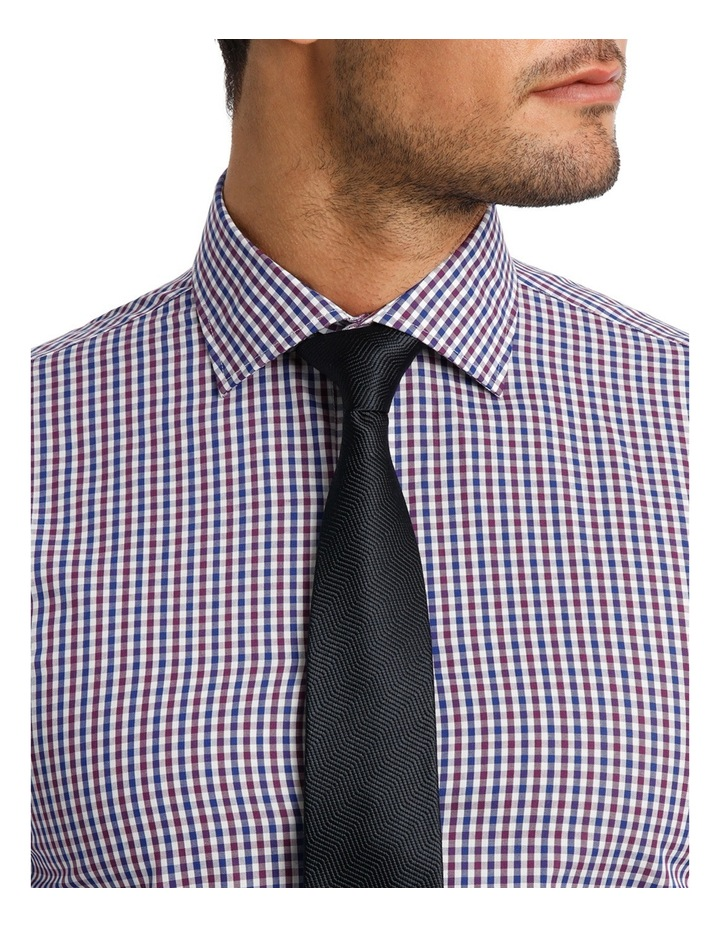 White  Navy & Purple Check Business Shirt VLEMX07Z_CNVB image 4