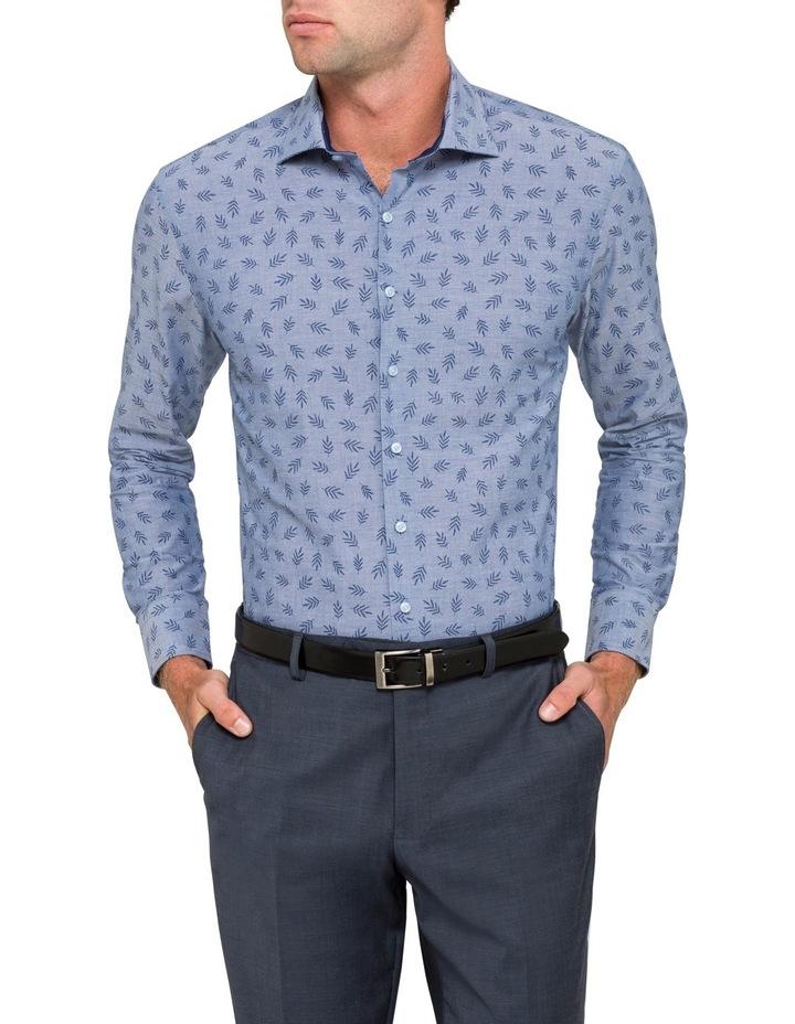Blue Leaf Dobby Business Shirt image 1