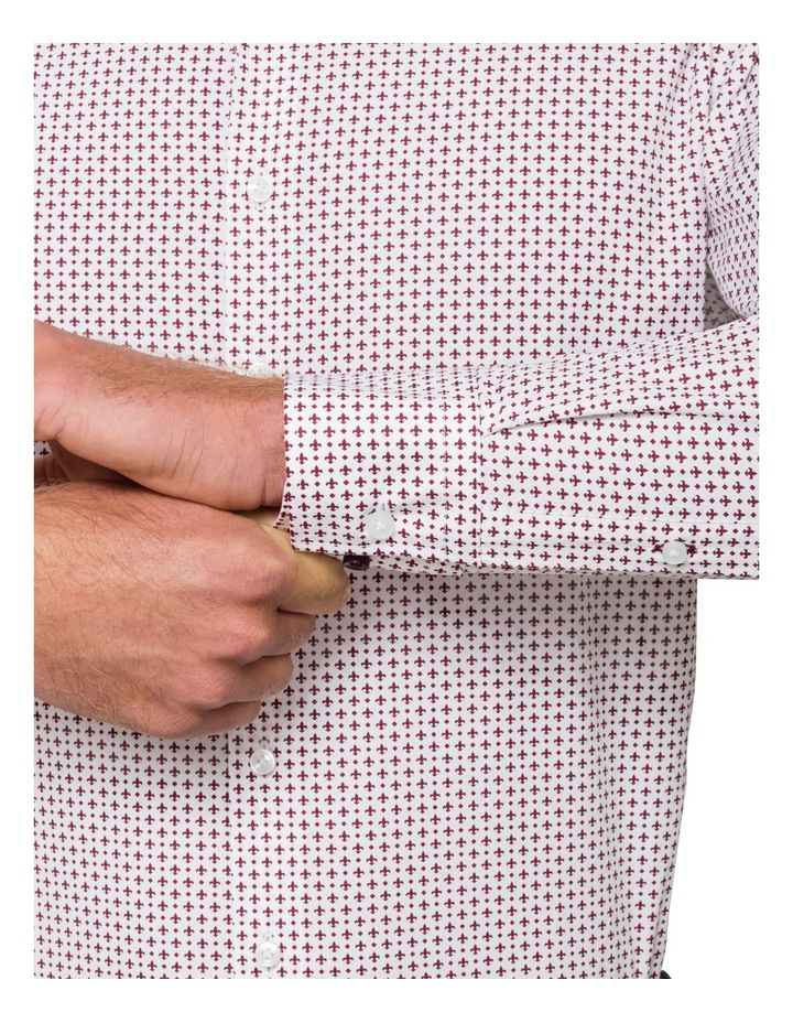Red Fleur Print Business Shirt image 3
