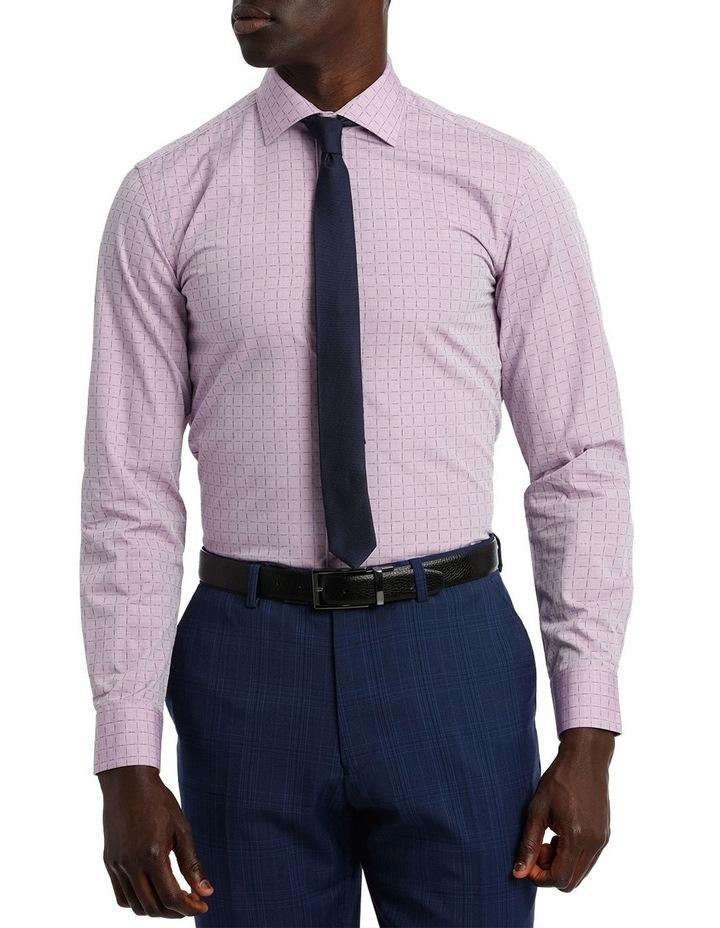 Lilac Career Grid Dobby Business Shirt image 1