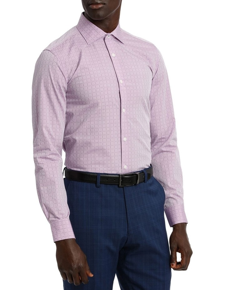 Lilac Career Grid Dobby Business Shirt image 2
