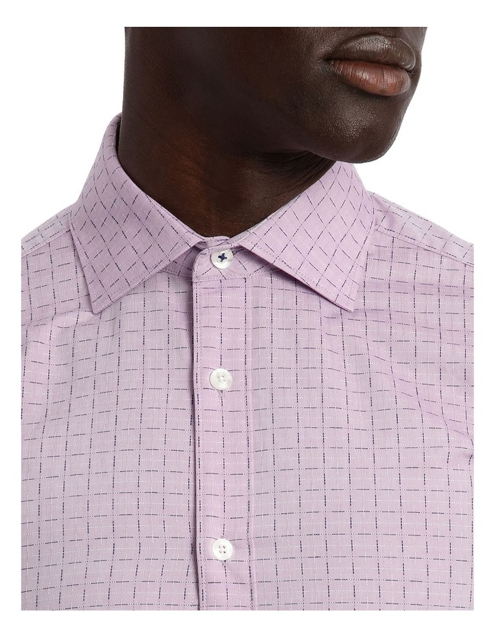 Lilac Career Grid Dobby Business Shirt image 4