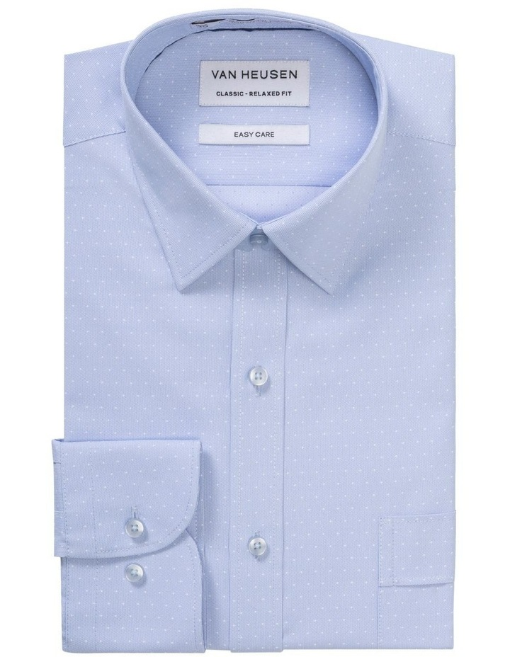 BLUE GROUND SPOT DOBBY BUSINESS SHIRT image 1