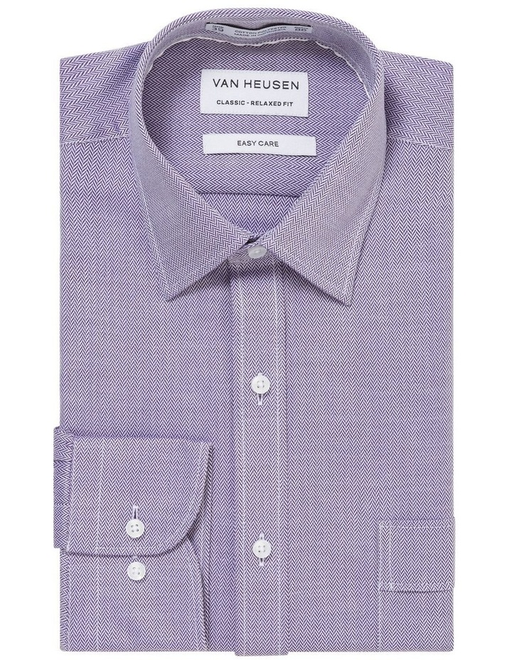 Self Herringbone Business Shirt image 1