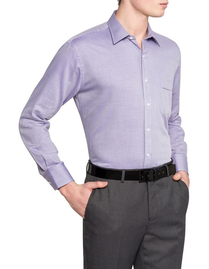 Self Herringbone Business Shirt image 2