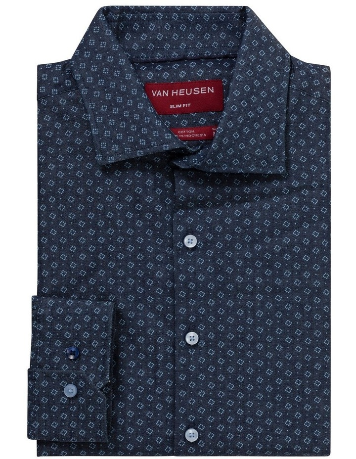 OXFORD WITH OVERPRINT BUSINESS SHIRT image 1