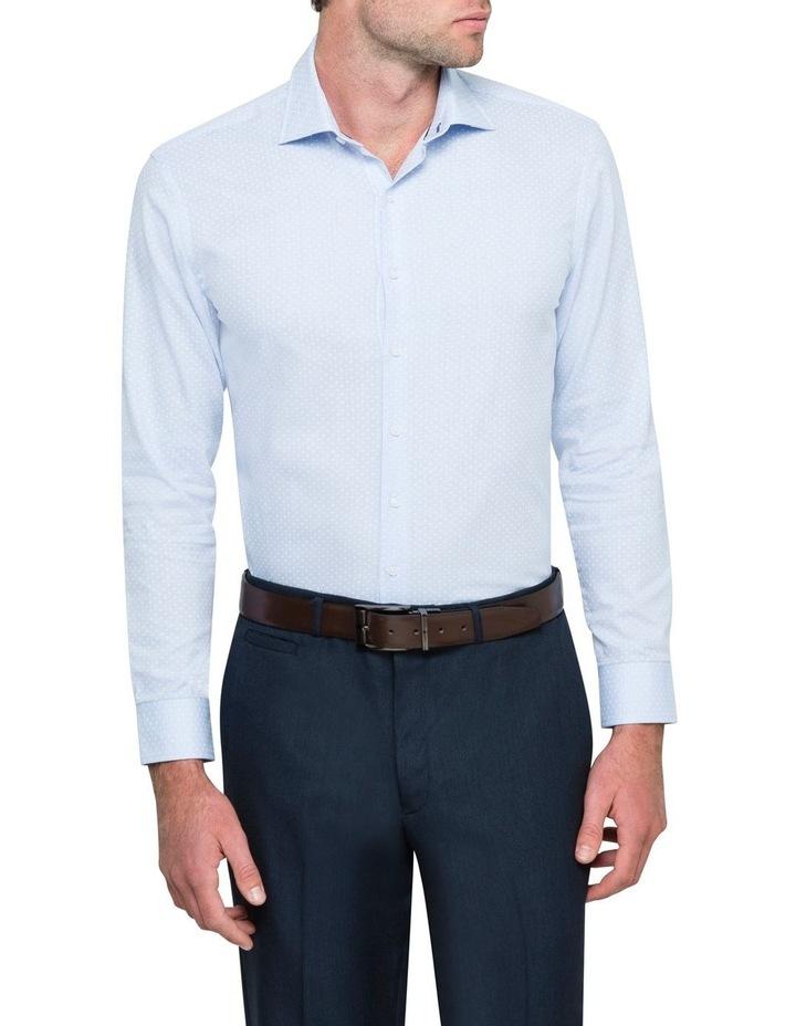 BLUE GROUND DOBBY BUSINESS SHIRT image 2