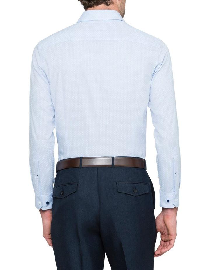 BLUE GROUND DOBBY BUSINESS SHIRT image 3