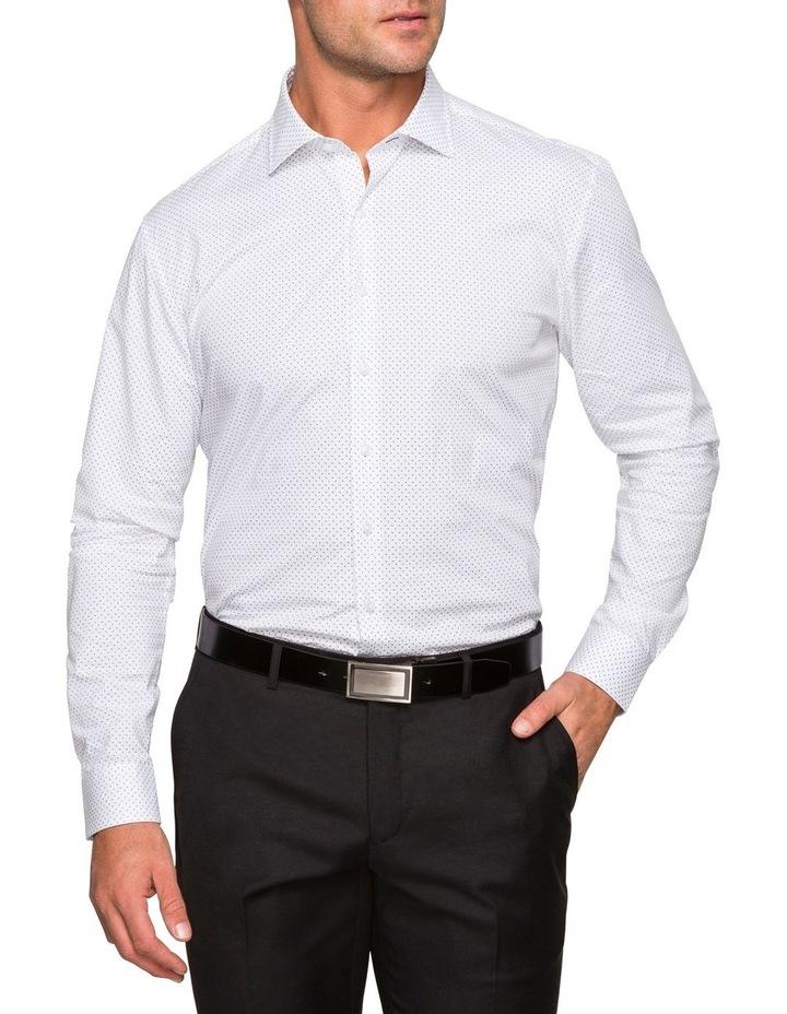 WHITE GROUND PRINT BUSINESS SHIRT image 2