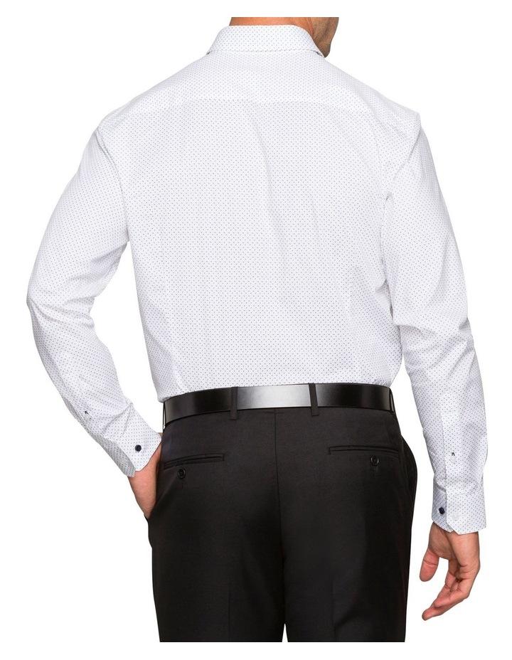 WHITE GROUND PRINT BUSINESS SHIRT image 3