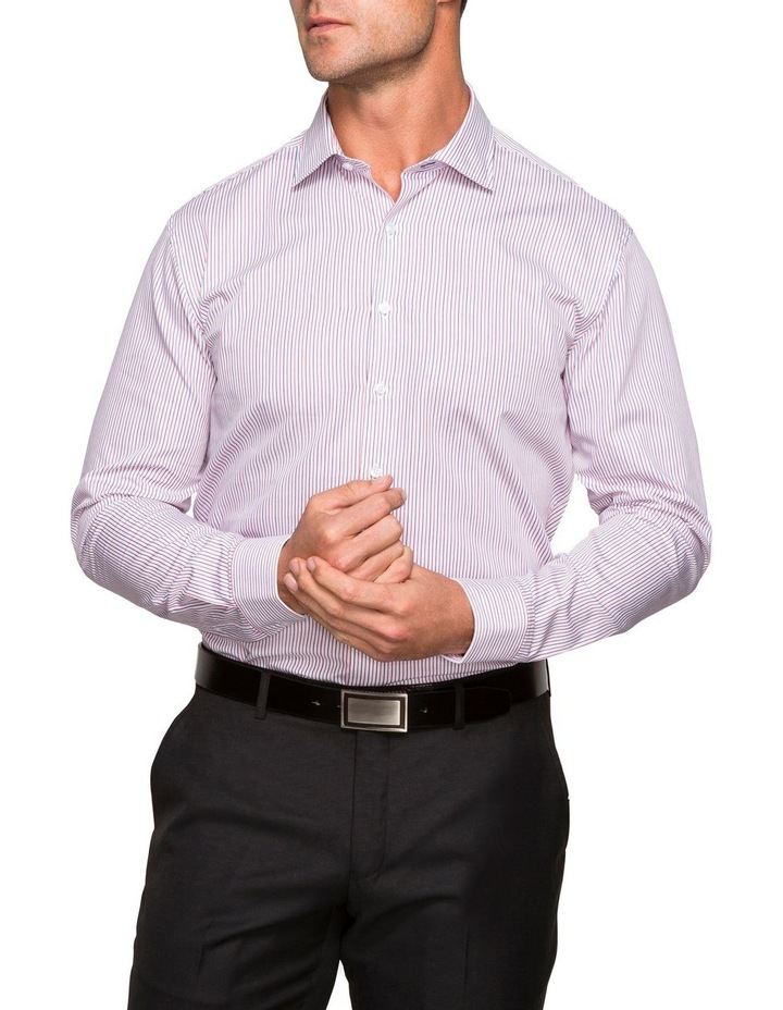 WHITE GROUND STRIPE BUSINESS SHIRT image 2
