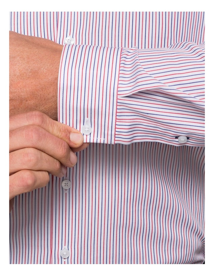 WHITE GROUND STRIPE BUSINESS SHIRT image 3