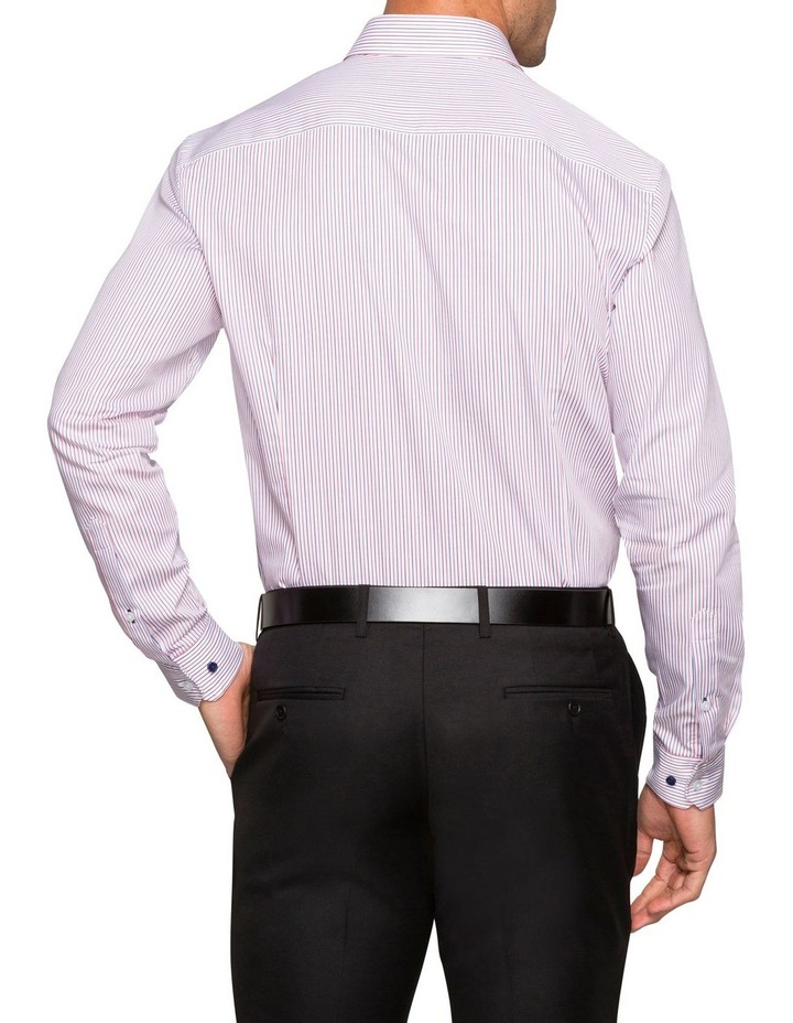 WHITE GROUND STRIPE BUSINESS SHIRT image 4