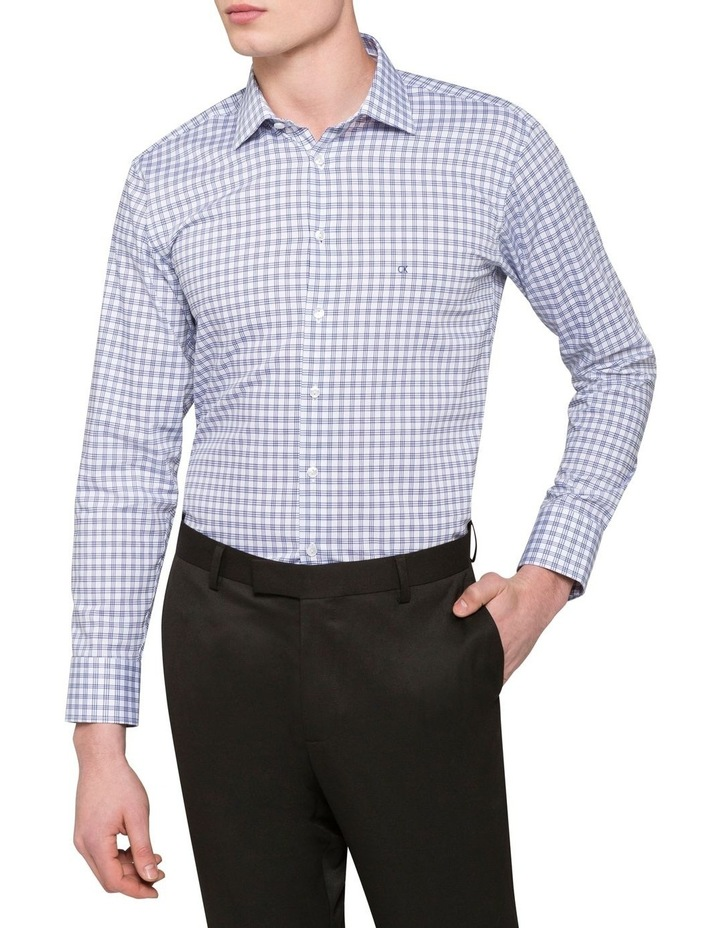 WHITE GROUND CHECK BUSINESS SHIRT image 1