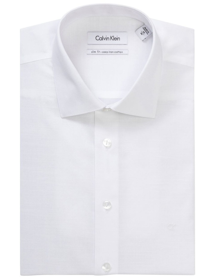 PLAIN SLUB BUSINESS SHIRT image 1
