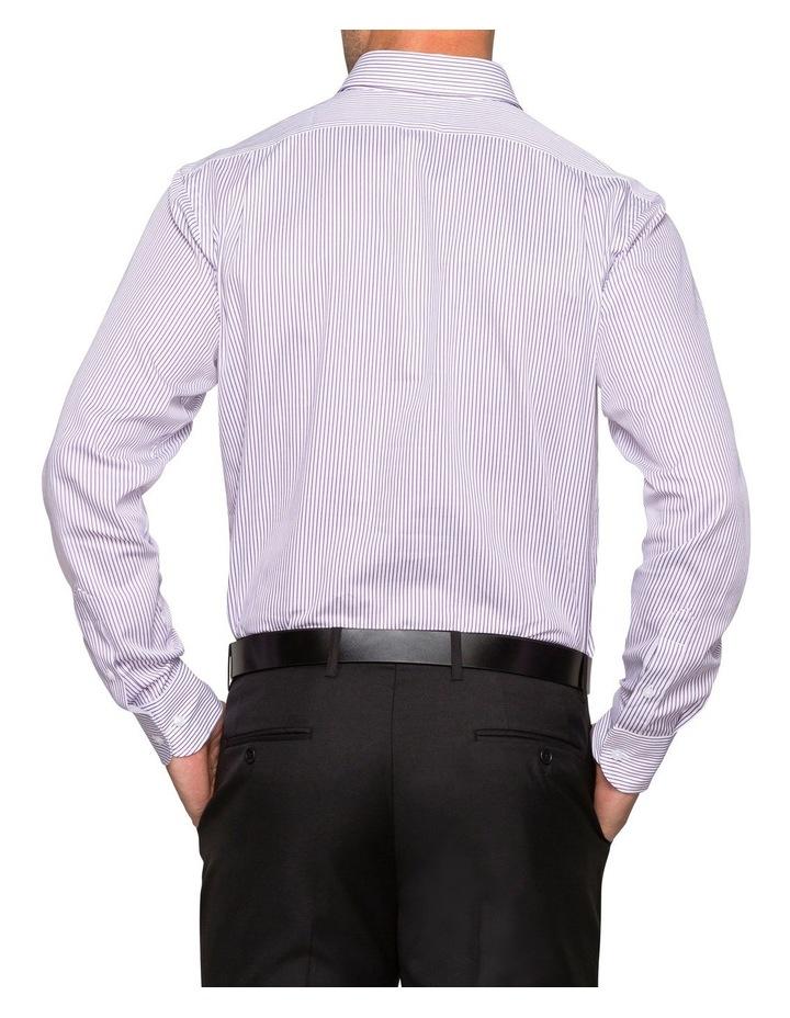 WHITE TWILL GROUND STRIPE BUSINESS SHIRT image 2