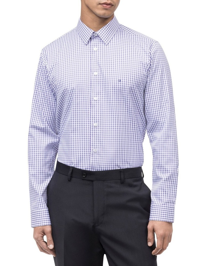 WHITE TWILL GROUND OVERCHECK BUSINESS SHIRT image 2