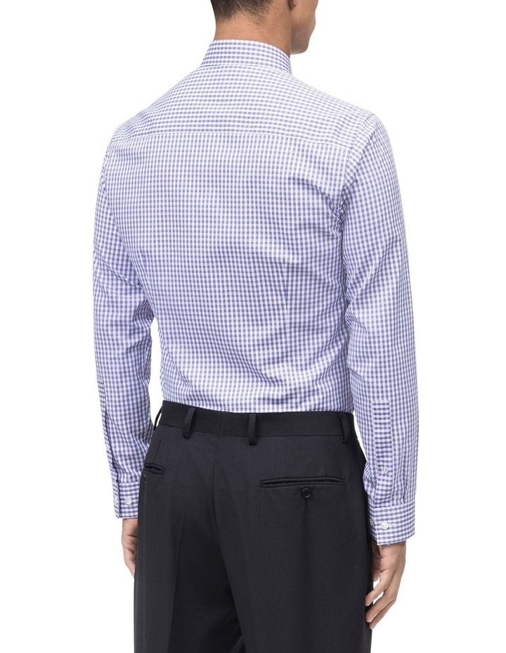 WHITE TWILL GROUND OVERCHECK BUSINESS SHIRT image 3