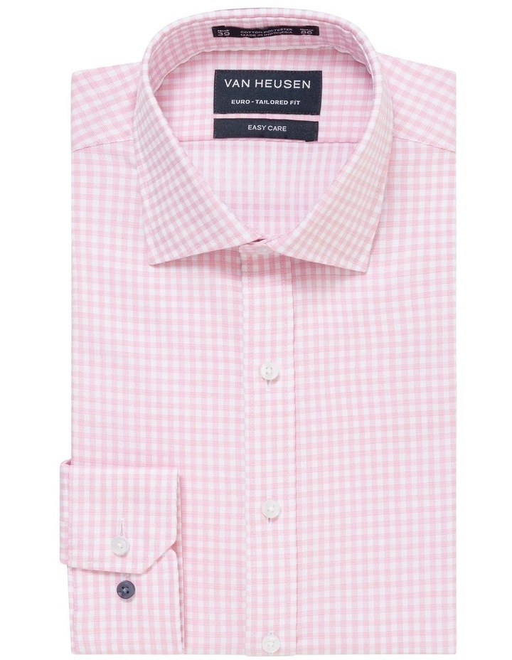 WHITE GROUND CHECK JACQUARD BUSINESS SHIRT image 1