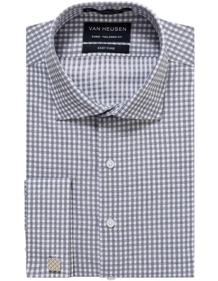 White Ground Check Jacquard Business Shirt image 1