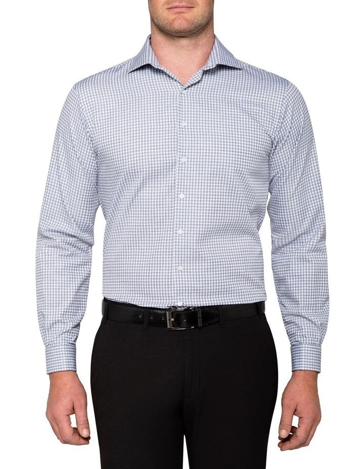 White Ground Check Jacquard Business Shirt image 2