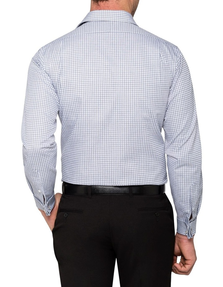WHITE GROUND CHECK JACQUARD BUSINESS SHIRT image 3