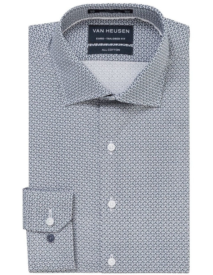WHITE GROUND GEOMETRIC PRINT BUSINESS SHIRT image 1