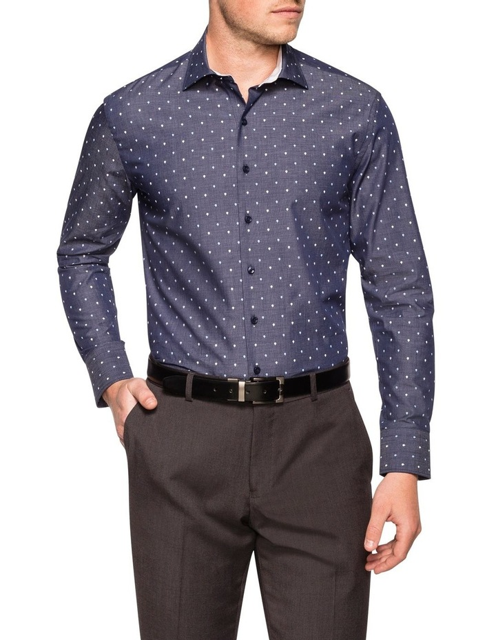 END ON END WITH TEARDROP OVERPRINT BUSINESS SHIRT image 1