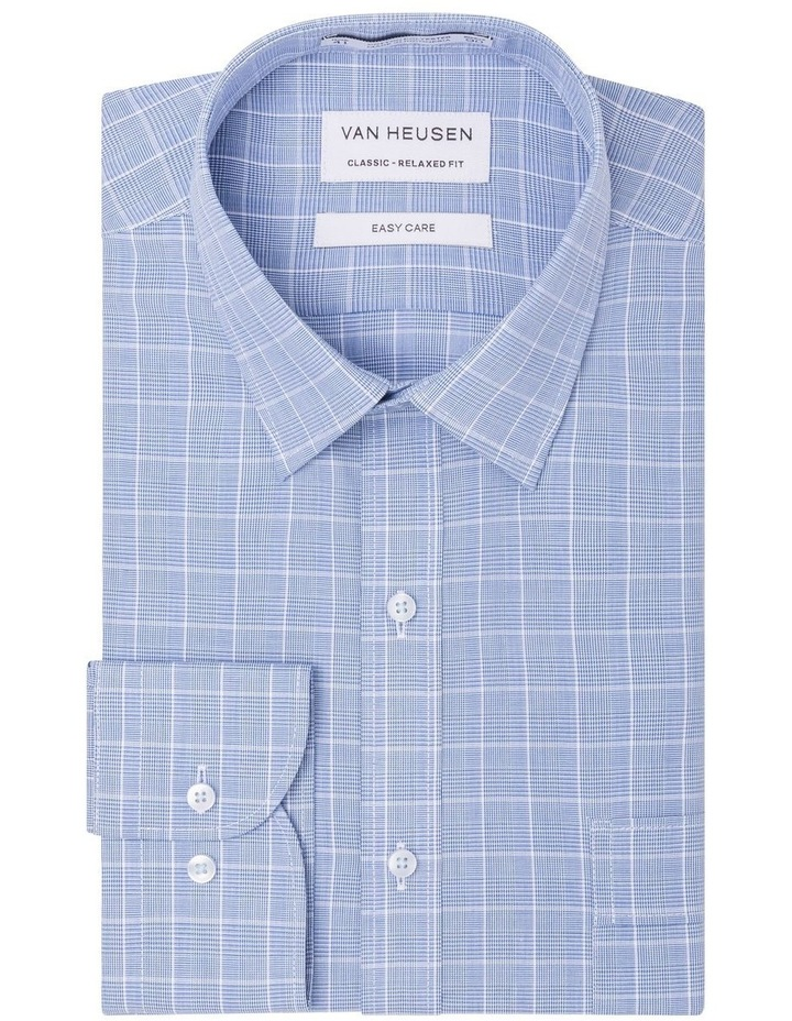 CHECK BUSINESS SHIRT NAVY/WHITE image 1