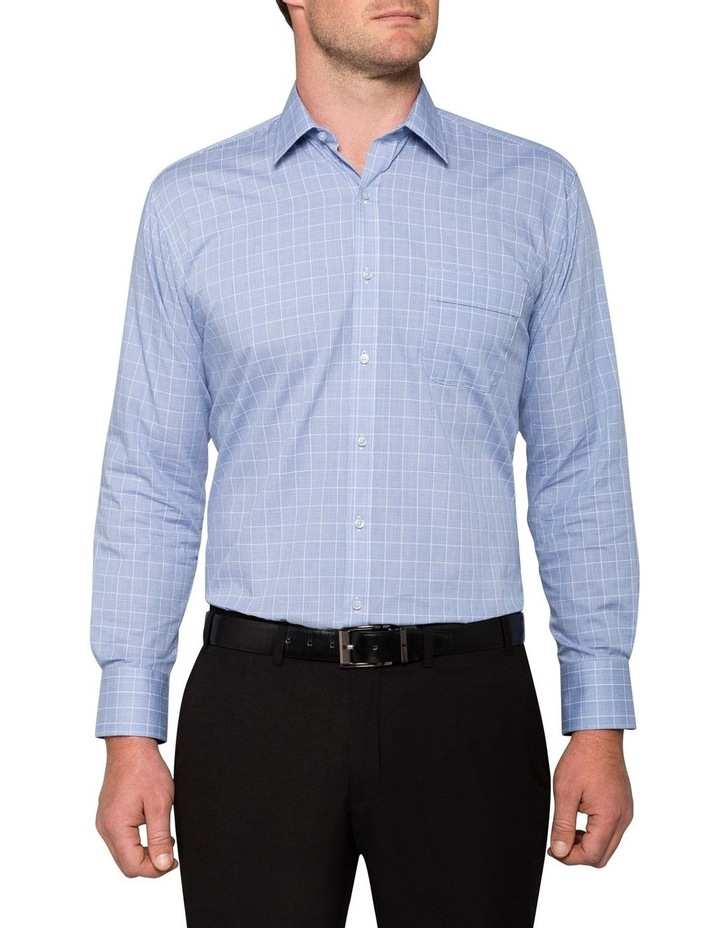 CHECK BUSINESS SHIRT NAVY/WHITE image 2