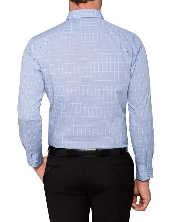 CHECK BUSINESS SHIRT NAVY/WHITE image 3