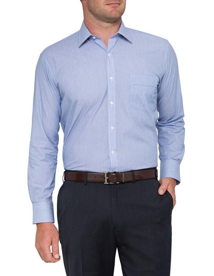 STRIPE BUSINESS SHIRT BLUE image 2
