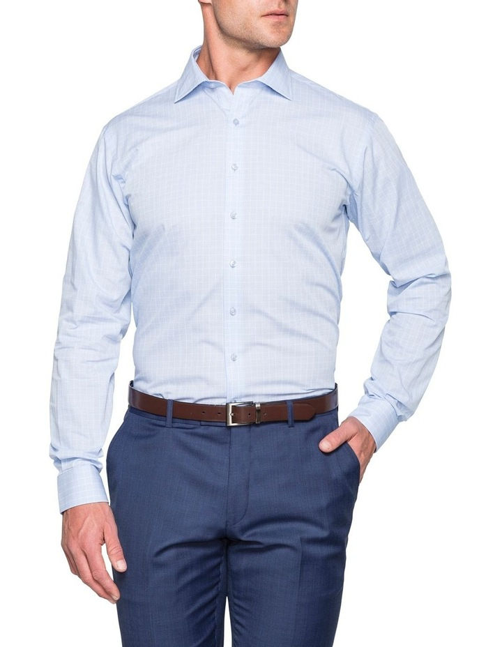 CHECK BUSINESS SHIRT BLUE/WHITE image 2