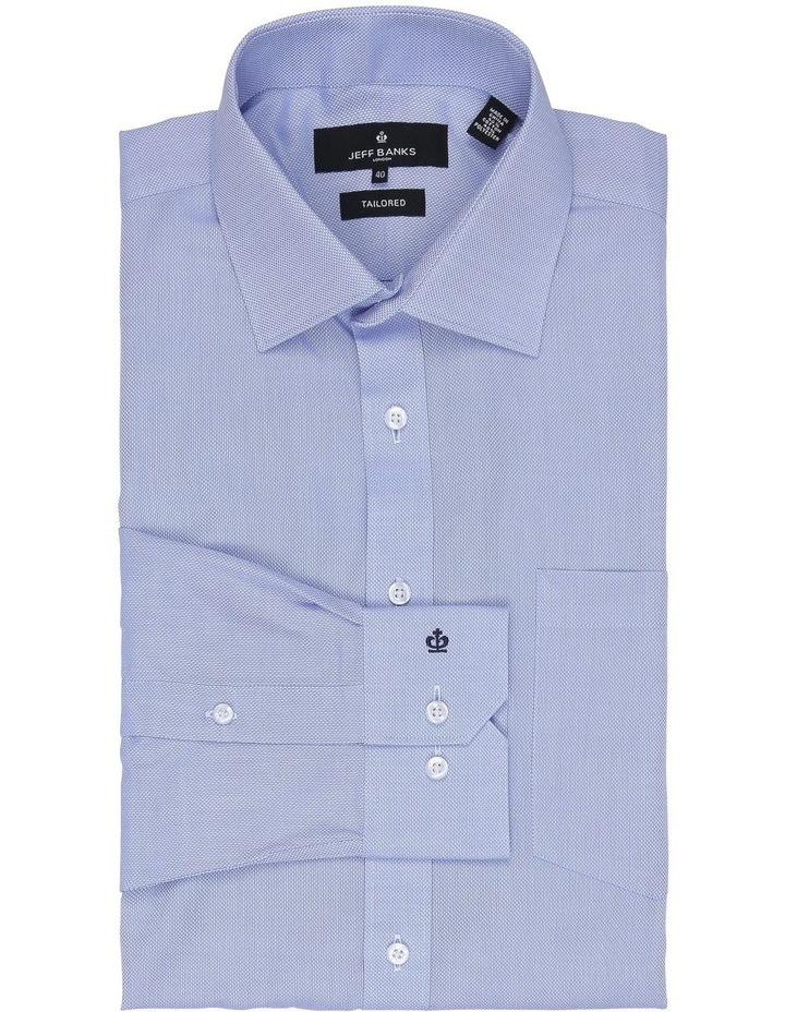 Myles Sky Blue Textured Tailored Fit Business Shirt image 2