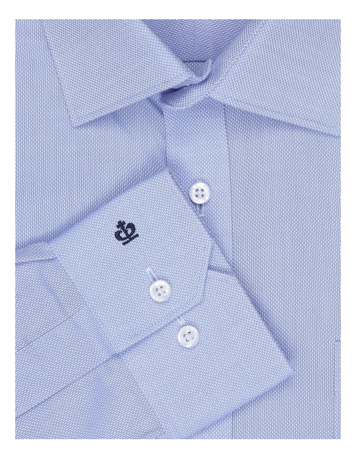 Myles Sky Blue Textured Tailored Fit Business Shirt image 4